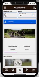 L'application Vivons Vélo